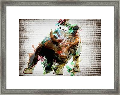 Stock Bull Digital Framed Print by Daniel Hagerman