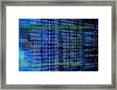 Stock Exchange Framed Print by Anastasiya Malakhova