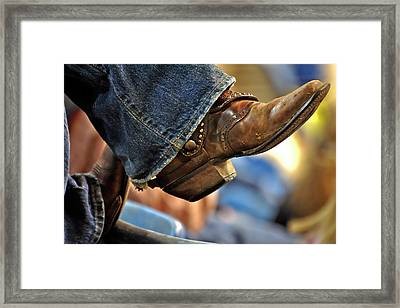 Stock Show Boots I Framed Print by Joan Carroll