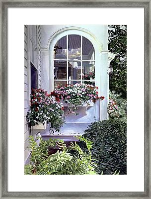Stockbridge Window Boxes Framed Print by David Lloyd Glover
