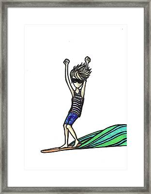 Stoked Framed Print by Erin Holmes