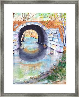 Stone Arch Bridge Dunstable Framed Print by Carlin Blahnik