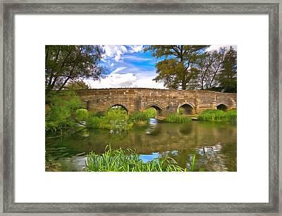 Stone Bridge Framed Print by Scott Carruthers