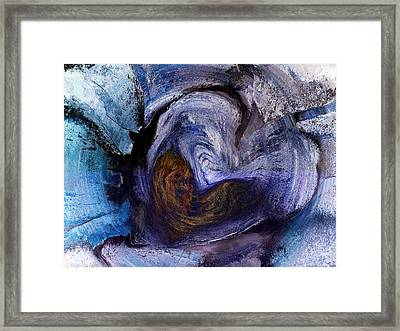 When Love Gives You The Stone Cold Shoulder Framed Print by Abstract Angel Artist Stephen K