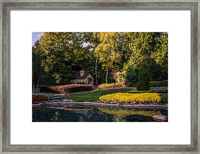 Stone Cottage In Victoria Gardens Framed Print by Zina Stromberg