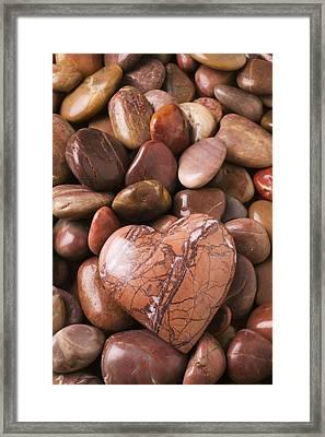 Stone Heart Framed Print by Garry Gay