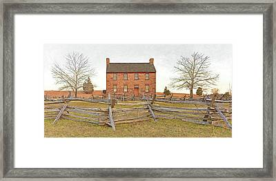 Stone House / Manassas National Battlefield / Winter Morning Framed Print by Digital Photographic Arts