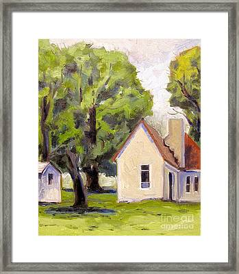 Stone House Point Road Plein Air Framed Print by Charlie Spear