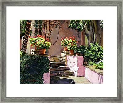 Stone Patio California Framed Print by David Lloyd Glover