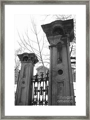 Stone Pillars Framed Print by Reb Frost