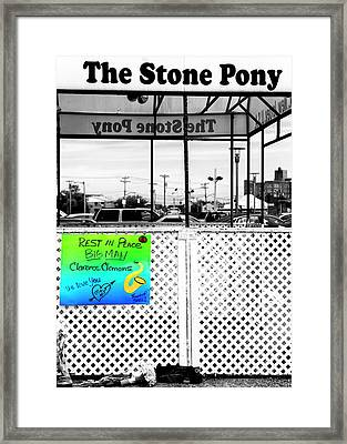Stone Pony Memorial To The Big Man Framed Print by John Rizzuto