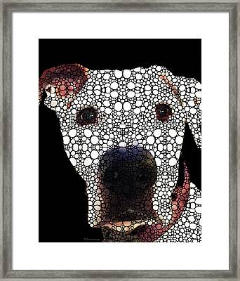 Stone Rock'd Dog 2 By Sharon Cummings Framed Print by Sharon Cummings