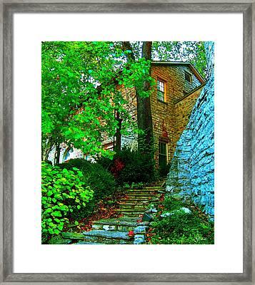 Stone Steps Framed Print by Julie Grace