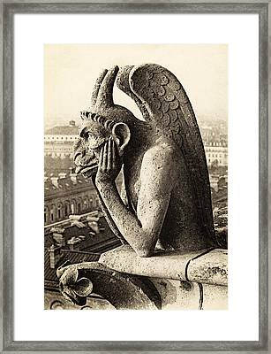 Stone Vampire Framed Print by Hulton Collection