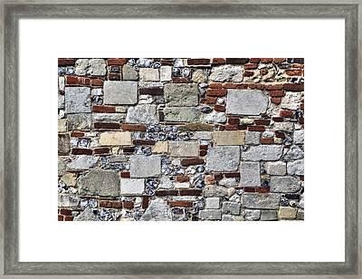 Stone Wall Framed Print by Joana Kruse