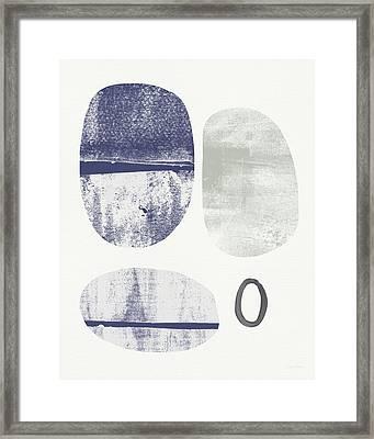 Stones 1- Art By Linda Woods Framed Print by Linda Woods