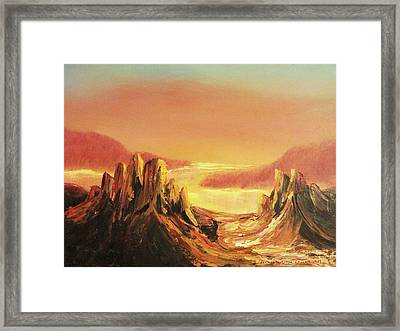 Stones And Sky Framed Print by Suzanne  Marie Leclair