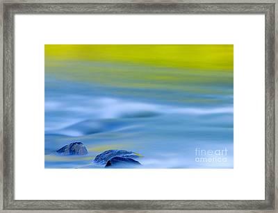 Stones In River Framed Print by Silke Magino