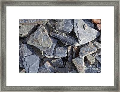 Stones Framed Print by Michal Boubin