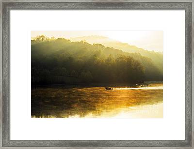 Stonewall Jackson Lake Sunrise Framed Print by Thomas R Fletcher