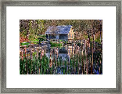 Stony Brook Grist Mill Framed Print by Rick Berk