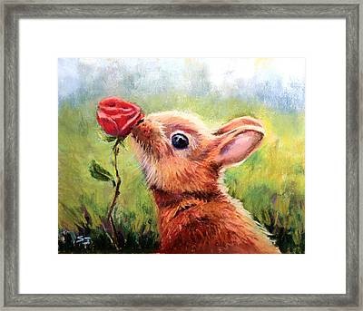 Stop And Smell The Roses Framed Print by Susan Jenkins
