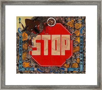 Stop C.t.b.s Framed Print by Angelo Sena