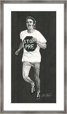 Stop Pre Framed Print by Chris Brown