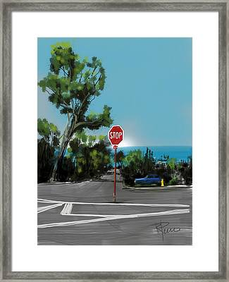 Stop Framed Print by Russell Pierce