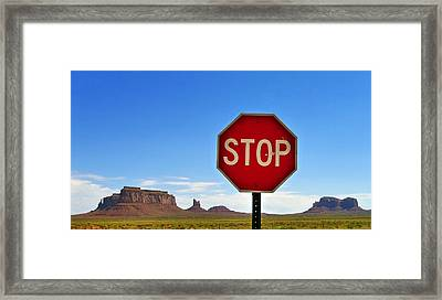 Stop Framed Print by Skip Hunt