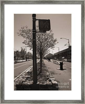 Stop...go Framed Print by Katie Victoria