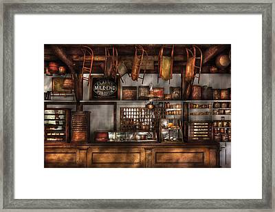 Store - Old Fashioned Super Store Framed Print by Mike Savad