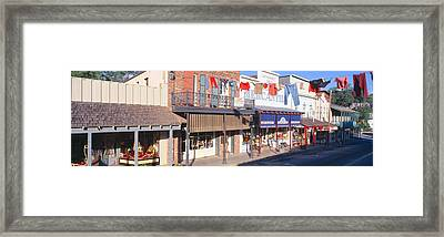 Store Fronts, Angels Camp, California Framed Print by Panoramic Images