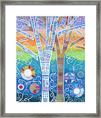 Stories On Trees Framed Print by Jeremy Aiyadurai