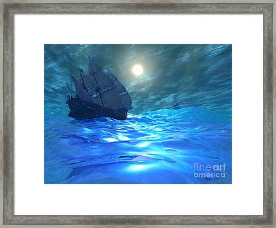 Storm Brewing Framed Print by Corey Ford
