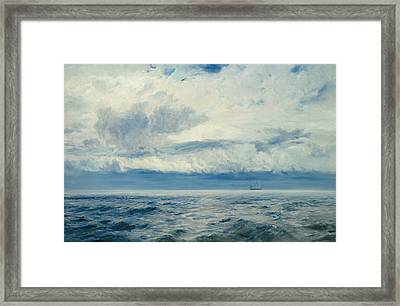 Storm Brewing Framed Print by Henry Moore