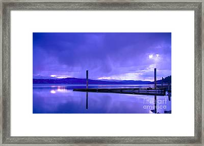Storm Brewing Framed Print by Idaho Scenic Images Linda Lantzy