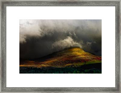 Storm Brewing Over Hawkshead Framed Print by Meirion Matthias