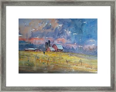 Storm Brewing Framed Print by Ryan Radke