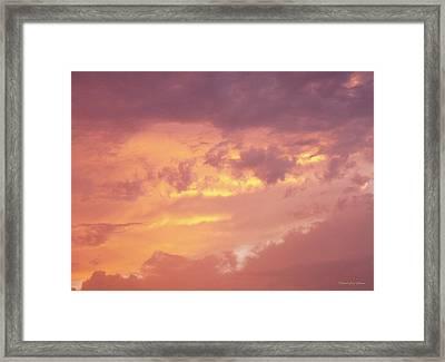 Storm Clouds Framed Print by Deborah  Crew-Johnson