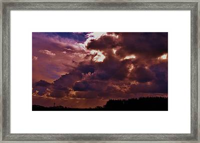 Storm Clouds Gathering Framed Print by Richard Brookes