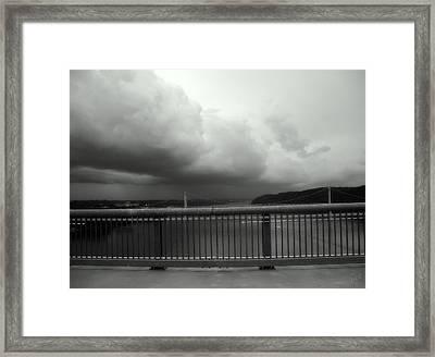 Storm Clouds On The Hudson Framed Print by Bruce Carpenter