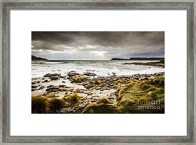 Storm Clouds Over Cloudy Bay Framed Print by Jorgo Photography - Wall Art Gallery