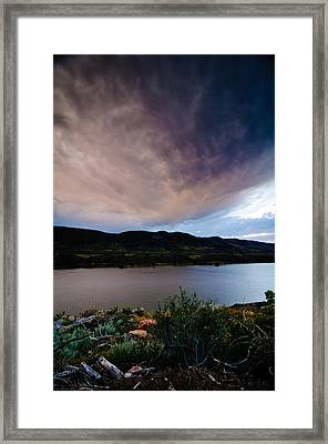Storm Clouds Over Horsetooth, Colorado Framed Print by Preston Broadfoot