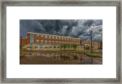 Storm Clouds Over Milton High School Framed Print by Brian MacLean