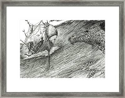 Storm Creator Atlantic Framed Print by Vincent Alexander Booth