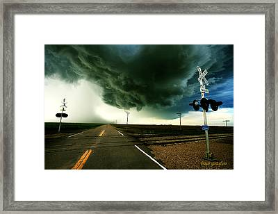 Storm Crossing Framed Print by Brian Gustafson