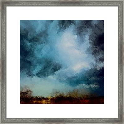 Storm Fields Framed Print by LC Bailey