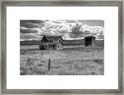 Storm Over Big Sky Montana Framed Print by Sandra Bronstein