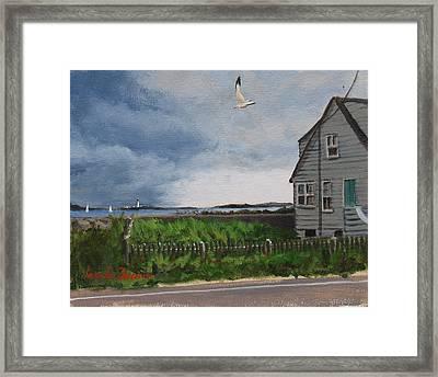 Storm Over Hull Framed Print by Laura Lee Zanghetti